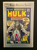Marvel Milestone Edition The Incredible Hulk 1 High Grade Comic CL91-237