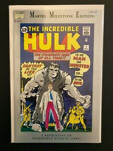 Marvel Milestone Edition The Incredible Hulk 1 High Grade Comic CL91-237