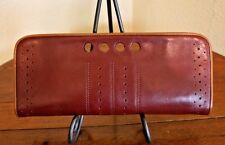 Banana Republic Leather Purse Cowhide Clutch Magnetic Ranch Letter Bill Holder