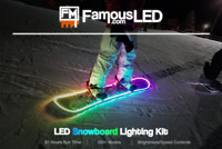 Snowboard Lighting Kit RGB LED Strip | Remote Controlled | Battery Powered