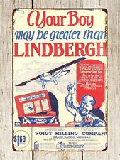 US Seller- bedroom themes Charles Lindbergh Airplane Toys Post metal tin sign