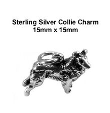 Sterling Silver Collie Charm 15mm x 15mm VT-SS-1171