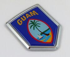 Guam flag Decal Car Chrome Emblem Sticker badge United States island