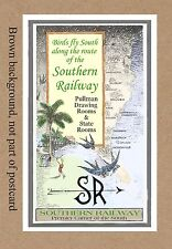 SOUTHERN RAILWAY  BIRDS FLY SOUTH  SEE RAILROAD  DEPOT STATION VA NC SC GA FL AL