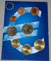 blister SERIE 8 MONETE IN EURO fdc - LUSSEMBURGO 2002 coins