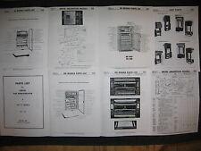 Servel gas refrigerator Parts List for 1939 -1957 models