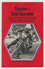 SPEEDWAY EXETER FALCONS V STAL GORZOW PROGRAMME 13TH APRIL 1970 PROGRAMME