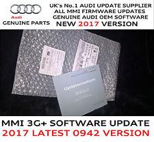 Audi A6 A7 A8 Q3  MMI 3G+ Plus Genuine USA 2017 Firmware Update 0942 SD Card