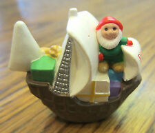 Hallmark Merry Miniatures 1992 Pinta Ship With Elf Columbus