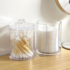 AM_ Cosmetic Organizer Makeup Cotton Pad Swab Case Holder Storage Box Container