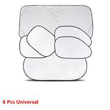 6 Pcs Universal Car Windshield Window Sun Shade Visor Folding Cover UV Protector