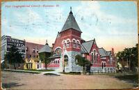1909 Postcard: First Congregational Church - Kewanee, Illinois IL