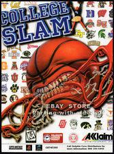 COLLEGE SLAM__Origi. 1996 Trade print AD game promo__ACCLAIM_Basketball_Nintendo