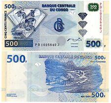 CONGO DEMOCRATE Billet 500 FRANCS 2002 DIAMAND NEUF UNC