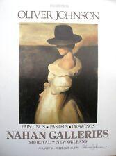 OLIVER JOHNSON Original Poster, Exhibition 1981, Signed