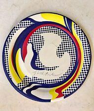 Roy Lichtenstein RARE SIGNED 1969 edition (damaged) Paper Plate. Price reduced.