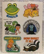 Vintage 1979 Dennison Sticker Sheet Six Large Stickers Novelty Humorous Ironic