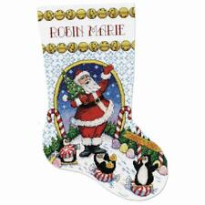 "Design Worksâ""¢ Candy Land Santa Stocking Counted Cross-Stitch Kit"