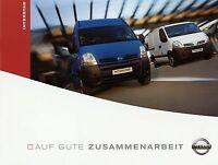 Prospekt Nissan Interstar 9 04 2004 LKWs Nutzfahrzeugprospekt truck brochure