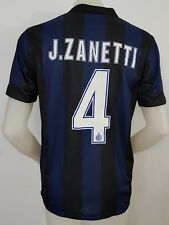 MAGLIA CALCIO SHIRT INTER ZANETTI NR.4 TAG.M FOOTBALL ITALY MATCH VINTAGE I42