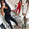 UK Womens 2 Pcs Crop Top Ruffle High Waisted Paperbag Jumpsuits Ladies Co ords