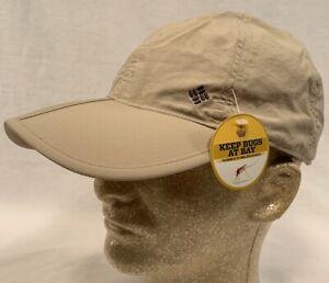 New Columbia Insect Blocker Cap Hat Omni-Shade Khaki Repellent Camping Hiking