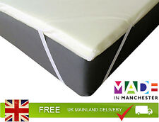 Orthopaedic Mattress Toppers, Elasticated Corner Strapped Knitted Cover Included
