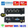 Intel Atom® E3845 4 LAN 3G/4G 4G RAM/32G SSD Fanless pfSense Firewall AES-NI