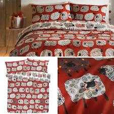 Red Duvet Covers Dotty Sheep Fun Reversible Christmas Quilt Cover Bedding Sets