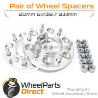 Wheel Spacers 20mm (4) Spacer Kit 6x139.7 93.1 +Nuts For Ford Ranger All Models