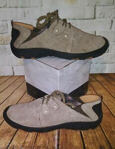 Men's Hiking Pigskin Leather Outdoor Casual Shoes Khaki Size 43/ US 9.5-10