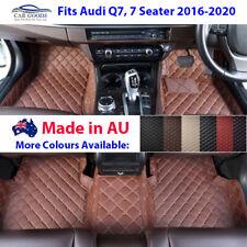 AU Made 3D Customised Floor Mats Multi-Colours Audi Q7 7 Seater 2016-2020
