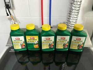 New 5-pack LOT Insect Disease Mite Ortho Tree & Shrub Fruit Tree Spray 16 oz.