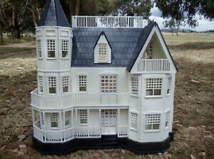 Wooden Dolls House Queen Ann Large 1:12 scale Dollhouse