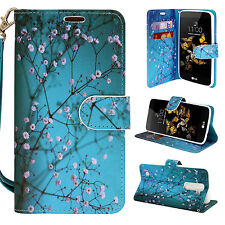 For LG Escape 3 / Phoenix 2 / K8 Hybrid PU Leather Wallet Pouch Case Flip Cover