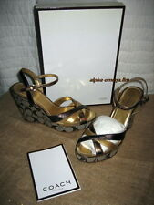 COACH Signature CECE METALLIC KID OT Platforms-Silver/Bronze-6.5M-Box/Tag-NM!