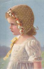 uralte AK, Künstler-Postkarten Serie 2618, Mädchen mit Kopfhaube/Kopfmütze