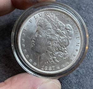 Us Morgan Silver Dollar 1887 Grade UNC