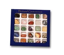 Gem stone & Rock selection Box fab geology crystal nature gift for the collector