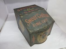 VINTAGE ADVERTISING SWEET CUBA STORE BIN COUNTER  TOBACCO CANISTER  TIN 928-S