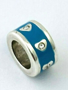 Brighton Circle My Heart Spacer Bead, Turquoise Finish, J9650N, New