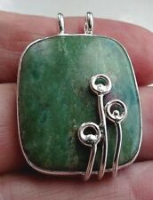 Superb Boho Sterling Silver and Amazonite Pendant
