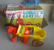 Vintage 1970s ECHO Plastic Donkey n Cart Windup Toy in Box