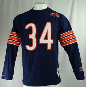 Chicago Bears NFL Mitchell & Ness Throwbacks '#34 Walter Payton' Crewneck