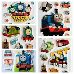 3D Thomas the Tank Engine Puffy Stickers for Kids Party Bags Reward Craft Sheets