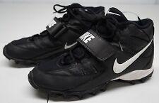 Nike Mens 9 M Phylon Black Leather Football Cleats