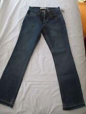 GAP BOOT CUT SEMI-EVASE BLUE DENIM JEAN - WOMENS SIZE 0 UNHEMMED - NWT