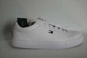 Men's Tommy Hilfiger Shoes All White Brecon Sneakers Size 9M New #020