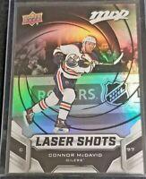 2019-20 Connor McDavid UD Upper Deck MVP Laser Shots #S-5 Edmonton Oilers