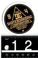 DC SHOES STICKER Black/Gold DC 2.5 in Round Skate Snow Decal